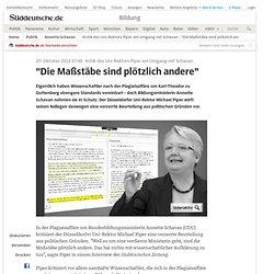 """Kritik des Uni-Rektors Piper am Umgang mit Schavan - """"Die Maßstäbe sind plötzlich andere"""" - Bildung"""