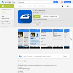 Chore Master – Applications Android sur Google Play