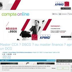 Master CCA ? DSCG ? ou master finance ? après un DCG