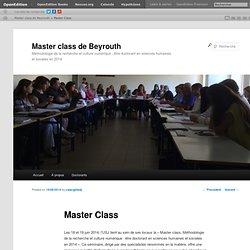 Master class de Beyrouth