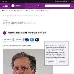 Master class avec Maurizio Ferraris