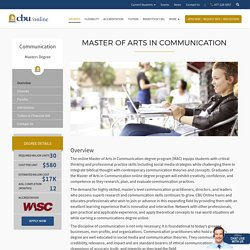 Master of Arts in Communication Degree Online