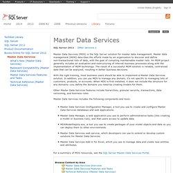 Master Data Services