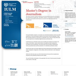 Master's Degree in Journalism