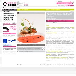 Master in cook and food design Design culinaire
