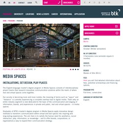 Master of Design - Media Spaces in Berlin / Germany