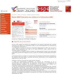 Master MEEF Education aux médias et à l'information (EMI)