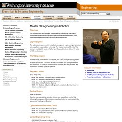 Master of Engineering in Robotics
