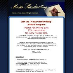 Master Handwriting - Affiliates