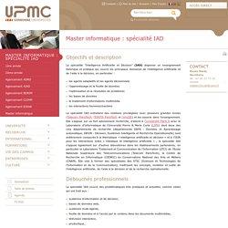 Master informatique : spécialité IAD