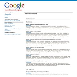 Master Lessons - GoogleWebSearchEducation