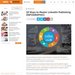 10 Ways to Master LinkedIn Publishing
