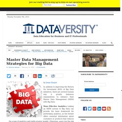 Master Data Management Strategies for Big Data