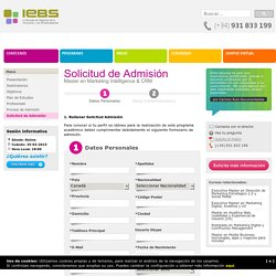 Master en Marketing Intelligence & CRM online - IEBS