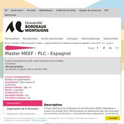 Master MEEF - PLC - Espagnol