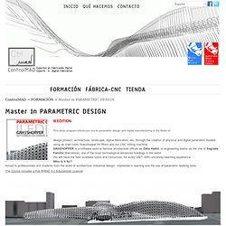 Master in PARAMETRIC DESIGN