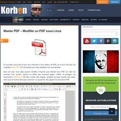 Master PDF - Modifier un PDF sous Linux