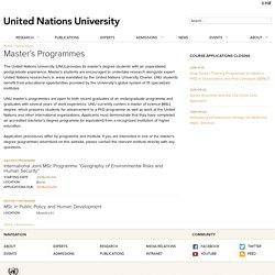 Master's Programmes