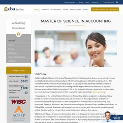 Master of Science in Accounting Degree Online