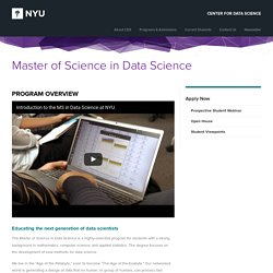 Master of Science in Data Science - NYU Center for Data Science