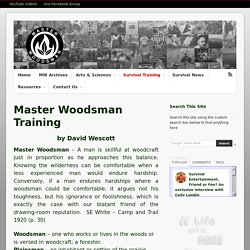 Master Woodsman Training