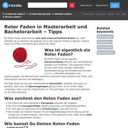 Roter Faden in Masterarbeit und Bachelorarbeit – Tipps » Aristolo Blog