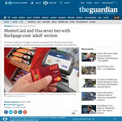 MasterCard and Visa sever ties with Backpage 'adult' section