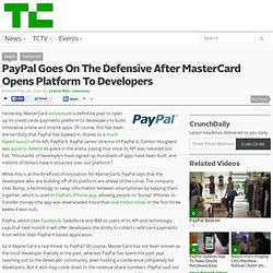 PayPal Goes On The Defensive After MasterCard Opens Platform To