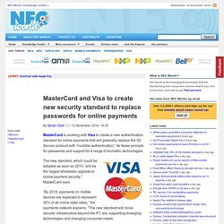MasterCard and Visa to create new security standard to replace passwords for online payments
