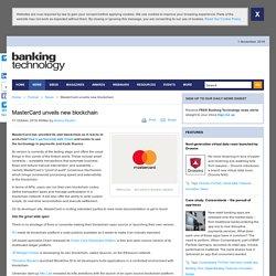 MasterCard unveils new blockchain