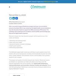 Masterclass: Accelerate in Digital Health 2020 – ANDHealth