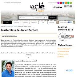 Masterclass de Javier Bardem