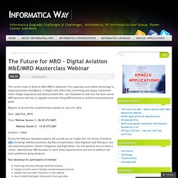 The Future for MRO – Digital Aviation M&E/MRO Masterclass Webinar