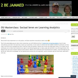 OU Masterclass: Sociaal leren en Learning Analytics