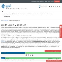Credit Union Email List , Mailing Addresses