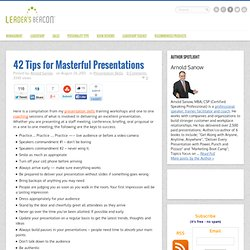 42 Tips for Masterful PresentationsLeader's Beacon