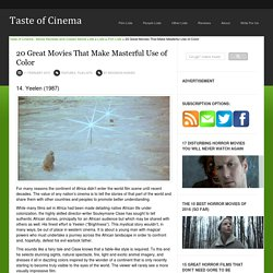 20 Great Movies That Make Masterful Use of Color « Taste of Cinema - Movie Reviews and Classic Movie Lists