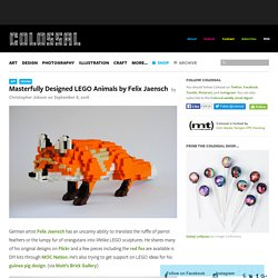 Masterfully Designed LEGO Animals by Felix Jaensch