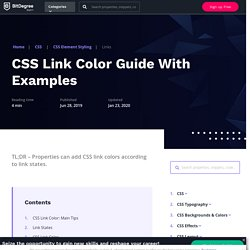 Mastering CSS Link Color: Using CSS Links With Real Examples