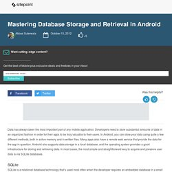 Mastering Database Storage and Retrieval in Android