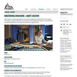 Mastering Engineer - Matt Colton