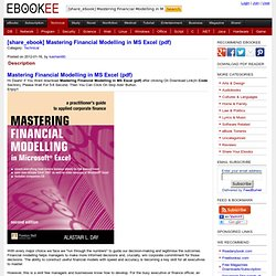 [share_ebook] Mastering Financial Modelling in MS Excel (pdf)