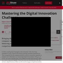 Mastering the Digital Innovation Challenge