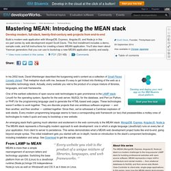 Mastering MEAN: Introducing the MEAN stack
