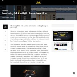 Mastering Trick with Limiter Automation - Audio Video Edit