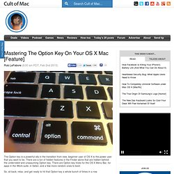Mastering The Option Key On Your OS X Mac [Feature]