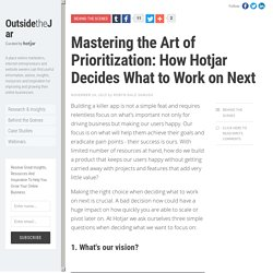 Mastering the Art of Prioritization: How Hotjar Decides What to Work on Next