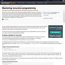 Mastering recursive programming