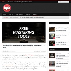 Free Mastering Software For Windows & Mac!