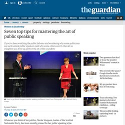 Seven top tips for mastering the art of public speaking